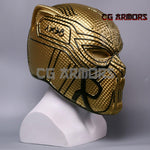 Marvel Movie Black Panther 2018 Erik Killmonger Golden Cosplay Helmet Side 2
