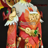 Overwatch OW Red Phoenix Skin Mercy Angela Ziegler Cosplay Costume Details 2