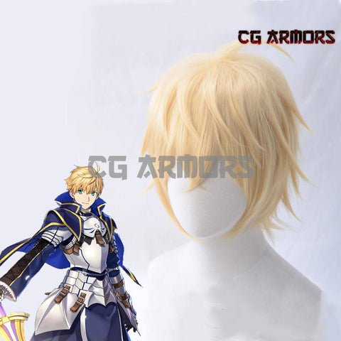Fate Grand Order Fate Prototype Saber Arthur Pendragon Golden Cosplay Wig - cgarmors