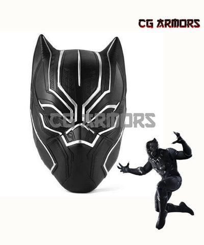 Marvel Captain America: Civil War Black Panther T'Challa Cosplay Helmet - cgarmors