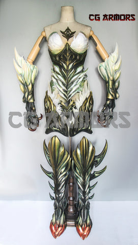 Final Fantasy XIV The Queen of Storms Garuda Cosplay Armor