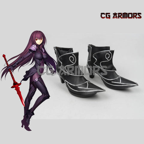 Fate Grand Order Lancer Scathach Black Cosplay Boots - cgarmors