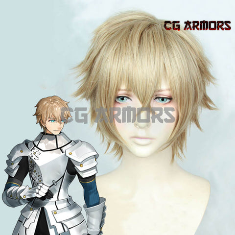 Fate Grand Order Gawain Light Brown Cosplay Wig - cgarmors