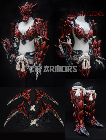 Monster Hunter World Odogaron Cosplay Armor