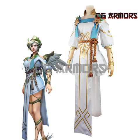 Overwatch OW Summer Games Winged Victory Mercy Skin Cosplay Costume
