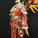 Overwatch OW Red Phoenix Skin Mercy Angela Ziegler Cosplay Costume Details