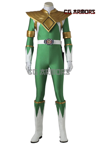 Mighty Morphin' Power Rangers Dragon Ranger Burai Cosplay Costume & Boots