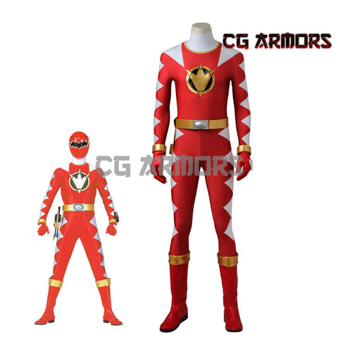 Power Rangers Dino Thunder Red Dino Ranger Conner McKnight Cosplay Costume