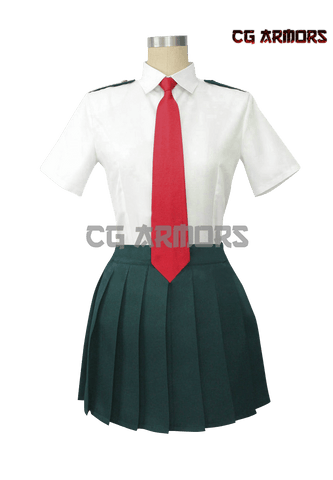 My Hero Academia Ochako Girls Summer School Uniform Cosplay Costume