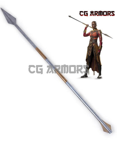 Marvel Black Panther 2018 Movie Okoye Spear Cosplay Weapon - cgarmors