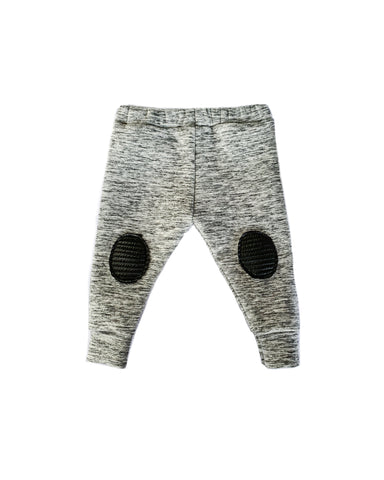 Knee patch leggings- Gray Harem Joggers pants