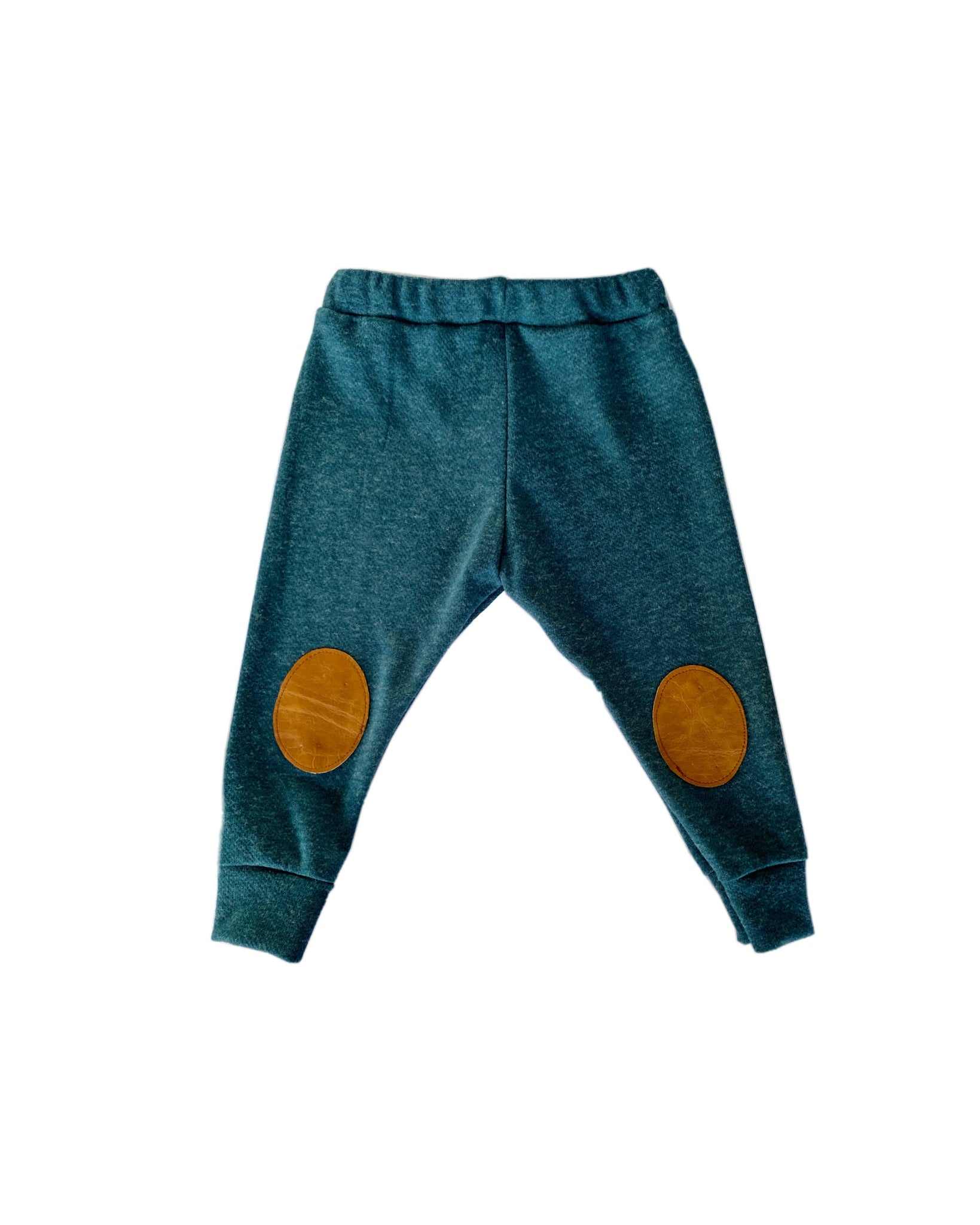 Knee patch leggings- Deep Teal, Harem Joggers