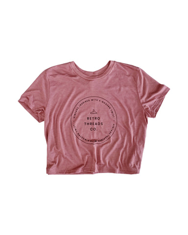 Women's Crop Top- Mauve Pink