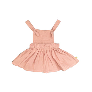 Adjustable Knot jumper Dress- Blush