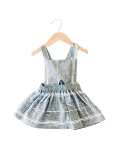 Nora Paige Pinafore Dress - Stripe Linen