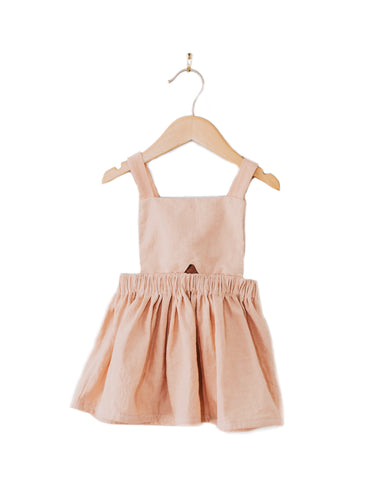 Nora Paige Pinafore Dress - Salmon Linen