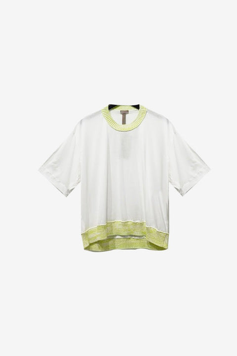 Colorblock T-Shirt - White / Yellow