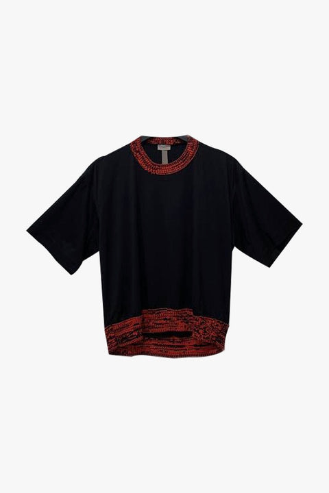 Colorblock T-Shit - Black/Red