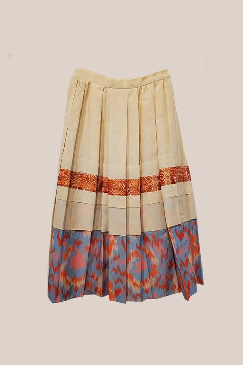 Pleated Beige Skirt