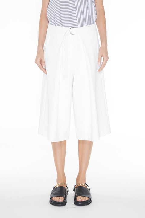 Chalky Drape Pleated Long Shorts