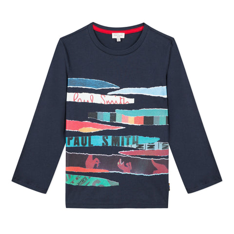 Printed Navy T-Shirt