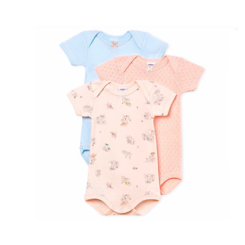 Baby Girl's Short-Sleeved Bodysuit - Set of 3