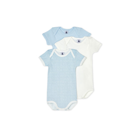 Solid Check Bodysuit - Set of 3