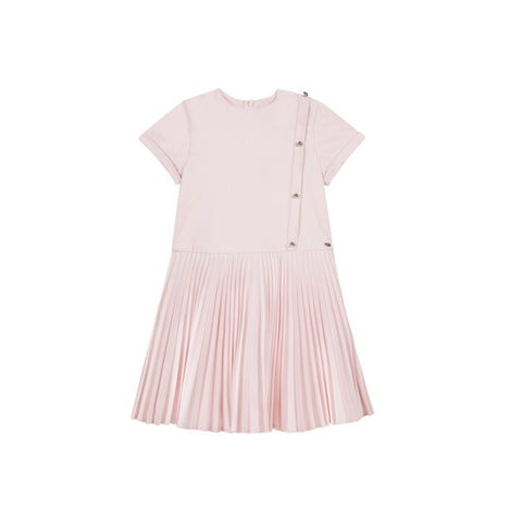 Pale pink pleated dress