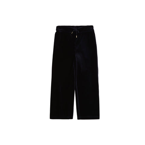 Velour Navy Trousers