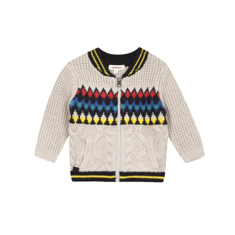 Multicolored zipped sweater