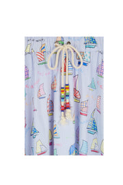 Stripe Sail Boat Tiered Skirt