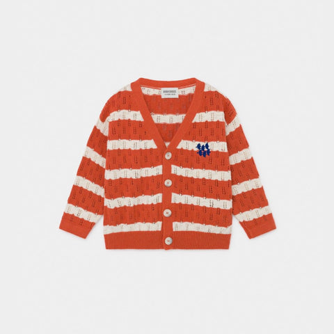 Kids Striped Knitted Cardigan