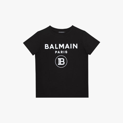 Kids Logo Cotton T-Shirt - Black