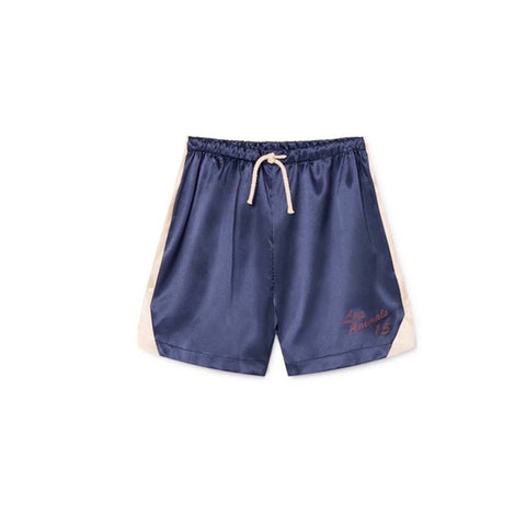 Navy Blue Bee Bermudas