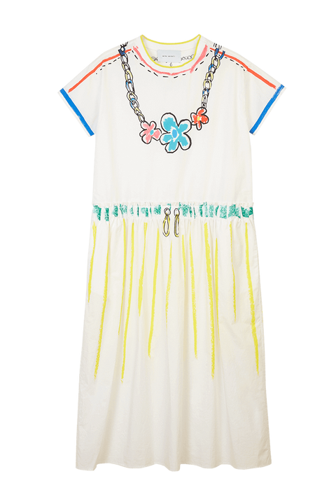 Trompe L'oeil Scribble T-Shirt Dress