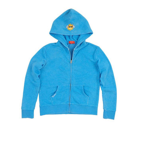 Sunset Burnout Fleece Zip Hoodie