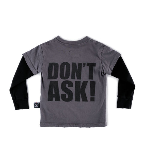 Don't ask! t-shirt - Dark Grey