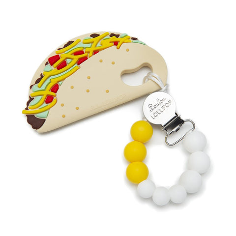 Taco Silicone Babies Teether Holder Set