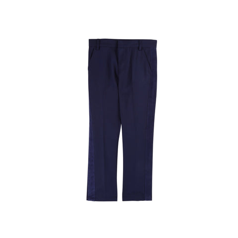 Twill Pants With Velvet Detail