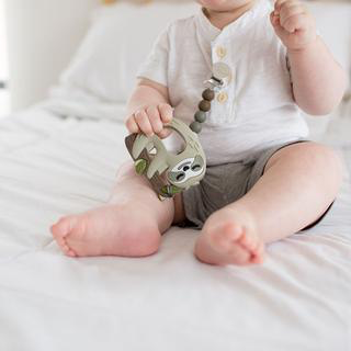 Sloth Silicone Teether with Holder Set