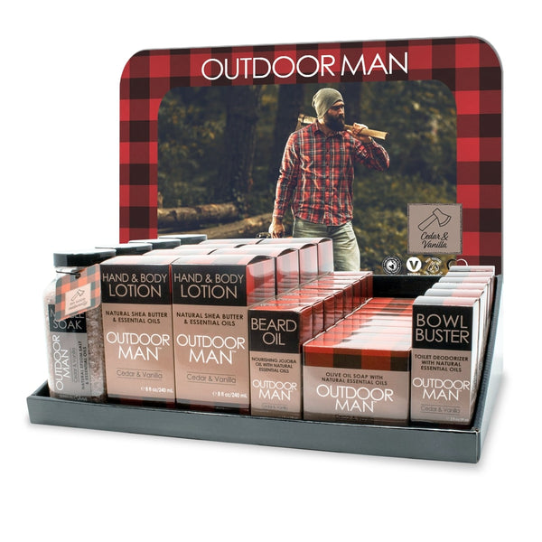 Outdoor Man Counter Display