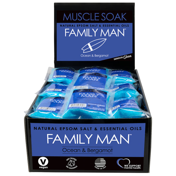Family Man Mini Muscle Soak Display