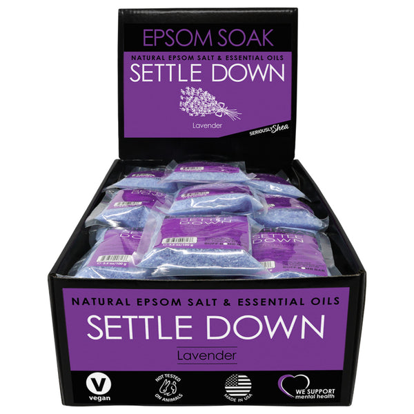 Settle Down Mini Epsom Soak Display