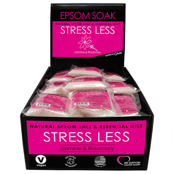 Stress Less Mini Epsom Soak Display