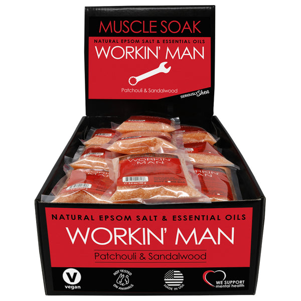 Workin Man Mini Muscle Soak Display