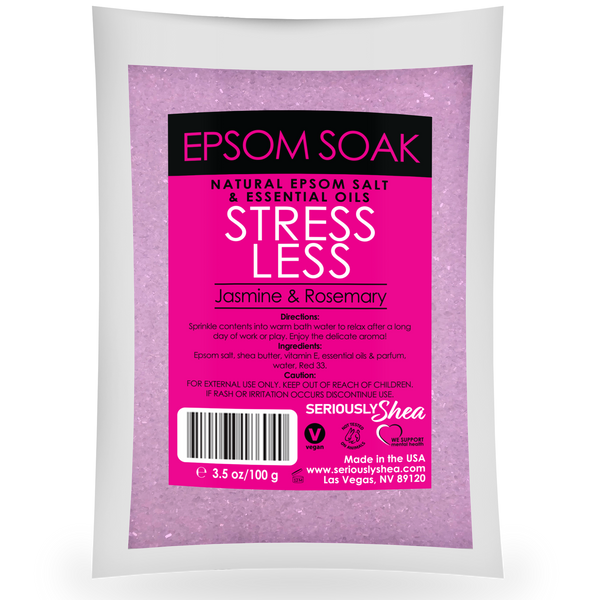 Stress Less Mini Epsom Salt Soak