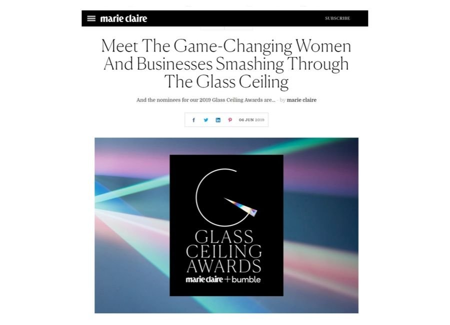 marie claire glass ceiling awards
