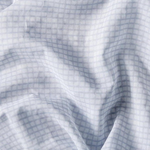 blue check gingham baby swaddle