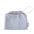 grey gingham mama maya swaddle bag
