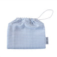 blue gingham grace tales baby swaddle muslin bag